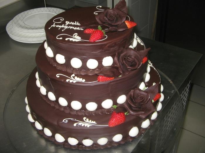 Трехэтажный торт своими руками на день рождения 15